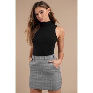 Tobi Skirts - Plaid Attitude Grey Mini Skirt